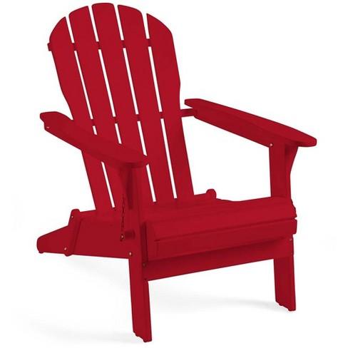Brilliant Fsc Certified Eucalyptus Wooden Outdoor Adirondack Chair Red Plow Hearth Machost Co Dining Chair Design Ideas Machostcouk