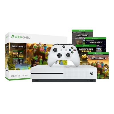 Xbox One S 1TB Minecraft Bundle White