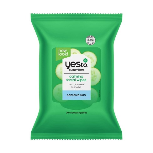 Yes to Cucumbers Hypoallergenic Facial Wipes - 30ct - image 1 of 4