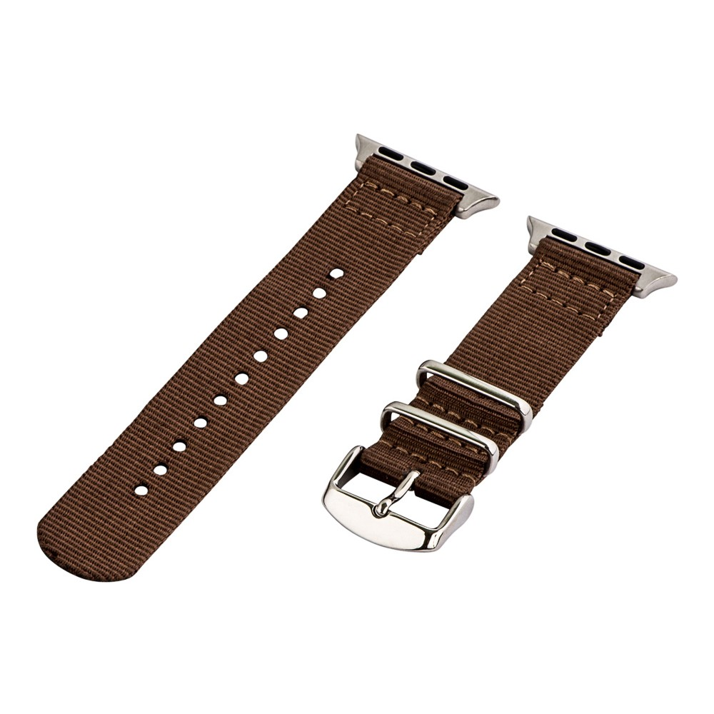 Clockwork Synergy Classic Nato 2 Apple Watch Band 38mm with Steel Adapter - Brown, Adult Unisex Customize the look of your timepiece with the Classic Nato 2-Piece Apple Watch Band from Clockwork Synergy. Crafted from high-quality nylon, this brown watchband ensures long-lasting durability without sacrificing comfortable wear. With 11 adjustability holes, you'll get the perfect custom fit so your watch stays in place all day. Whether you show off the sleek brown design that pairs well with any look, or you switch it out to complement a specific outfit, you'll love sporting a unique look that complements your style. Gender: Unisex. Age Group: Adult.