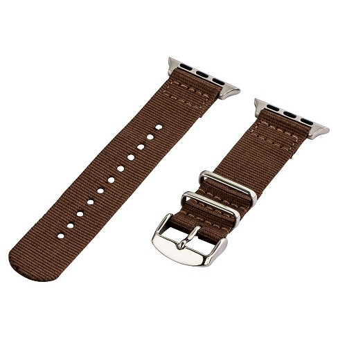 Clockwork Synergy Classic Nato 2 Apple Watch Band 42mm with Steel Adapter - Brown - image 1 of 1
