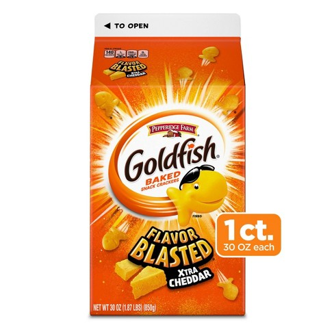 Pepperidge Farms Goldfish Flavor Blasted Xtra Cheddar Crackers - 30oz - image 1 of 4