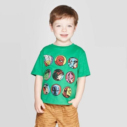 Toddler Boys' Avengers T-Shirt - Green - image 1 of 3