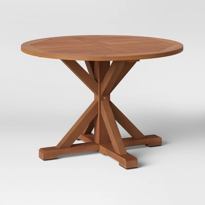 Morie Wood 4 Person Round Patio Dining Table - Threshold™