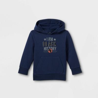 Black History Month Toddler 'I Am Black History' Hooded Sweatshirt - Blue