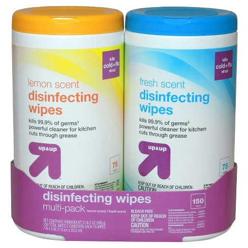 Lemon and Fresh Scented Disinfecting Wipes - 75ct/2pk - Up&Up™ - image 1 of 1