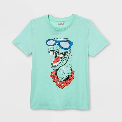 Boys' Dino Graphic Short Sleeve T- Shirt - Cat & Jack™ Mint