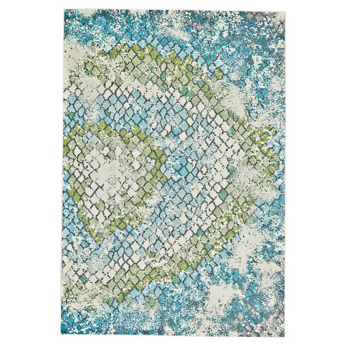 Blue Abstract Woven Area Rug - (8'X11') - Room Envy - image 1 of 3