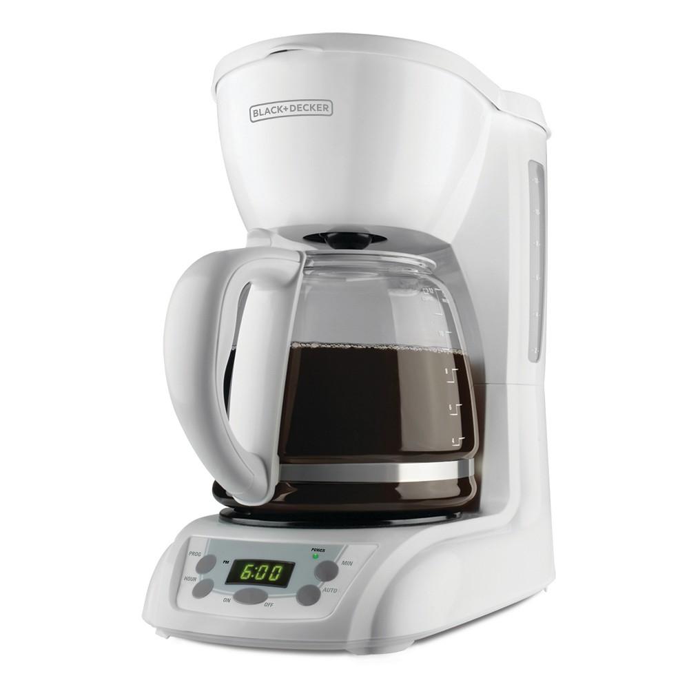 Black+decker 12 Cup Programmable Coffee Maker - White DLX1050W