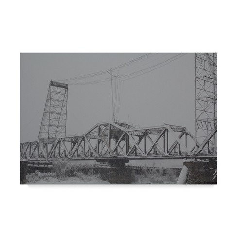 "Trademark Fine Art 47"" X 30"" Ian Tornquist 'Livingston Avenue Bridge' Canvas Art - image 1 of 3"