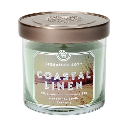 Jar Candle - Coastal Linen - 4oz - Signature Soy