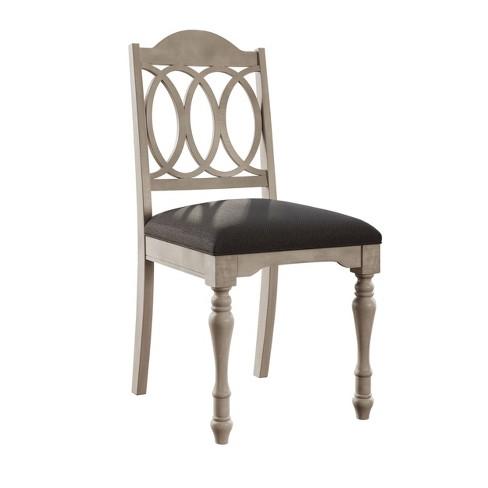 Surprising Austin Farmhouse Dining Chair Set Of 2 Gray Abbyson Living Ibusinesslaw Wood Chair Design Ideas Ibusinesslaworg