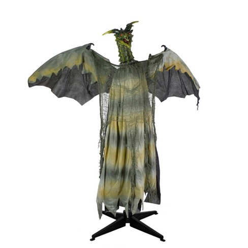 Dragon Halloween Decorations.Northlight 39 Black And Brown Animated Standing Dragon Halloween Decoration Target