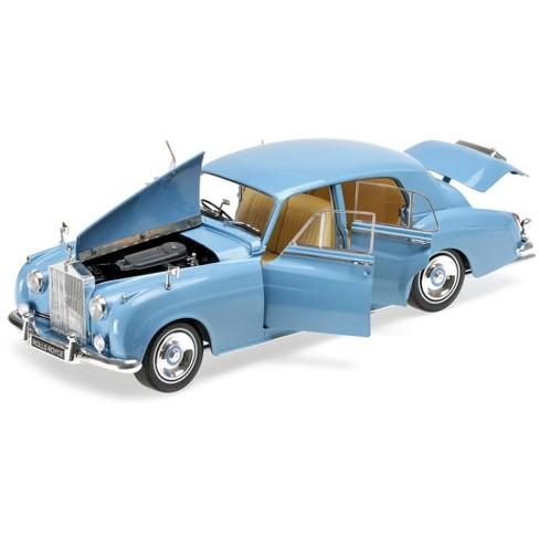 1960 rolls royce silver cloud ii light blue 1/18 diecast model car