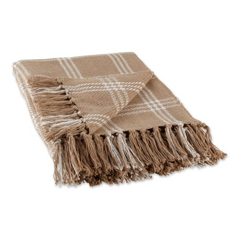 "50""x60"" Modern Farmhouse Plaid Throw Blanket - Design Imports - image 1 of 4"
