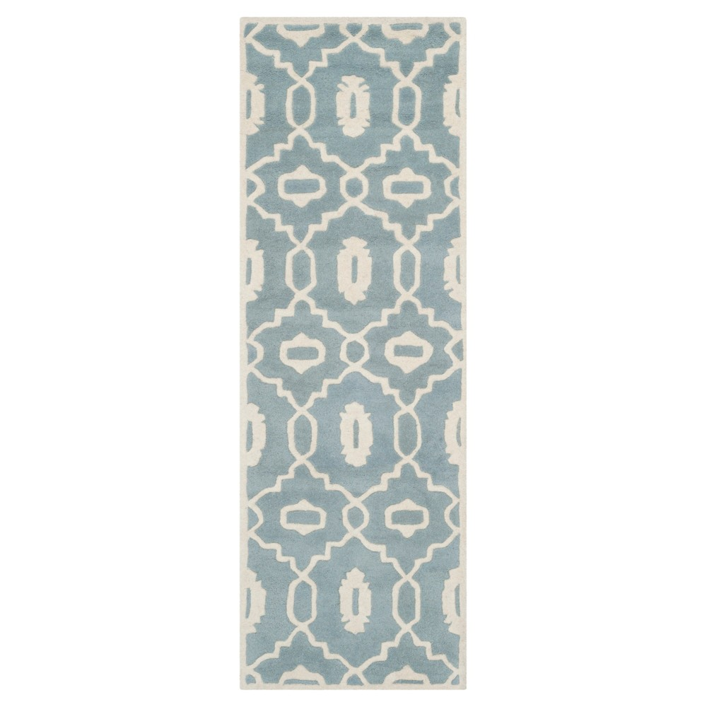 Blue/Ivory Geometric Tufted Runner - (2'3X11' Runner) - Safavieh