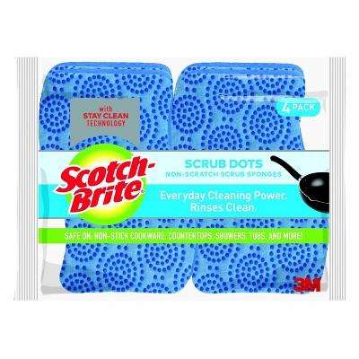 Scotch-Brite Scrub Dots Non-Scratch Scrub Sponge - 4pk