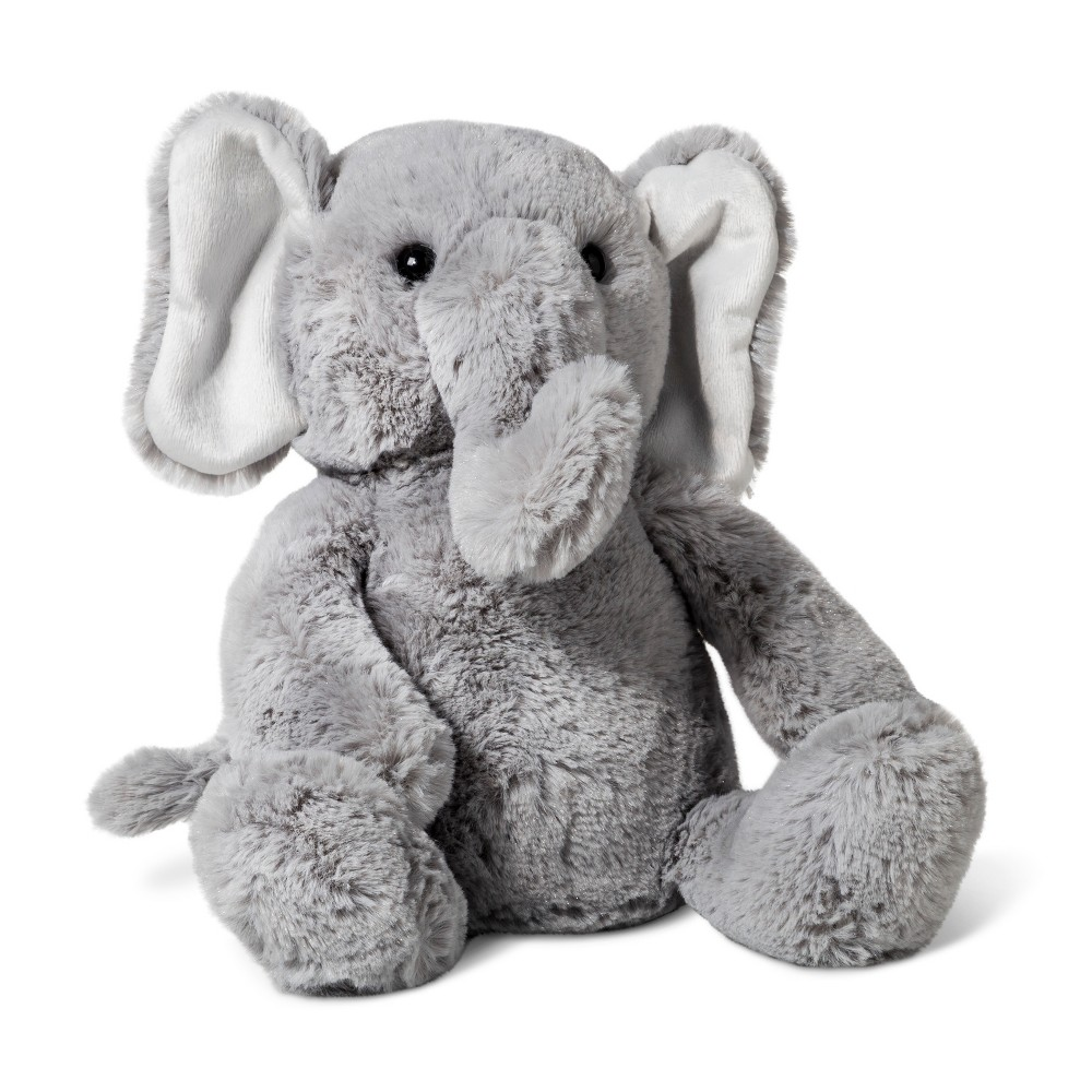 Plush Elephant Cloud Island 8482 Gray