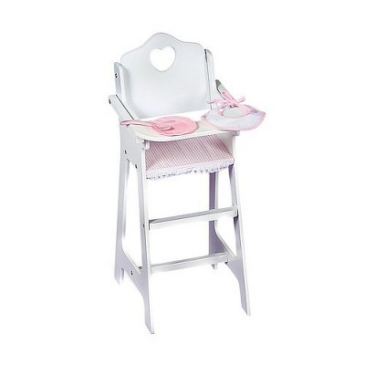 Lovely Badger Basket Doll High Chair With Accessories