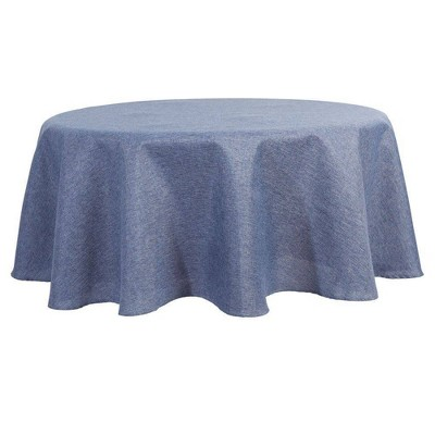 """70"""" Round Somers Tablecloth Blue - Town & Country Living"""