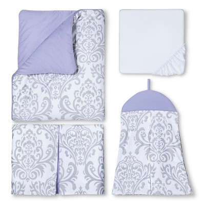 Sweet Jojo Designs 11pc Lavender Elizabeth Crib Bedding Set - Lavender-Gray-White