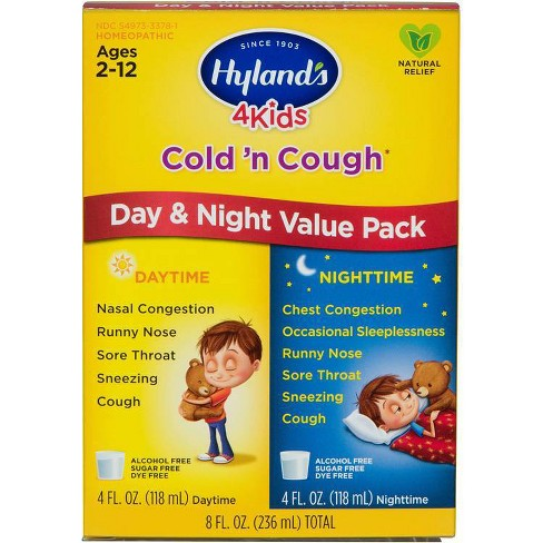 Hyland's 4 Kids Day & Night Cold 'n Cough Relief Liquid - 8 fl oz - image 1 of 4