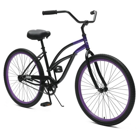 "Critical Cycles Ladies Chatham 1-speed Cruiser Bike- 26"" - Black/Purple - image 1 of 2"