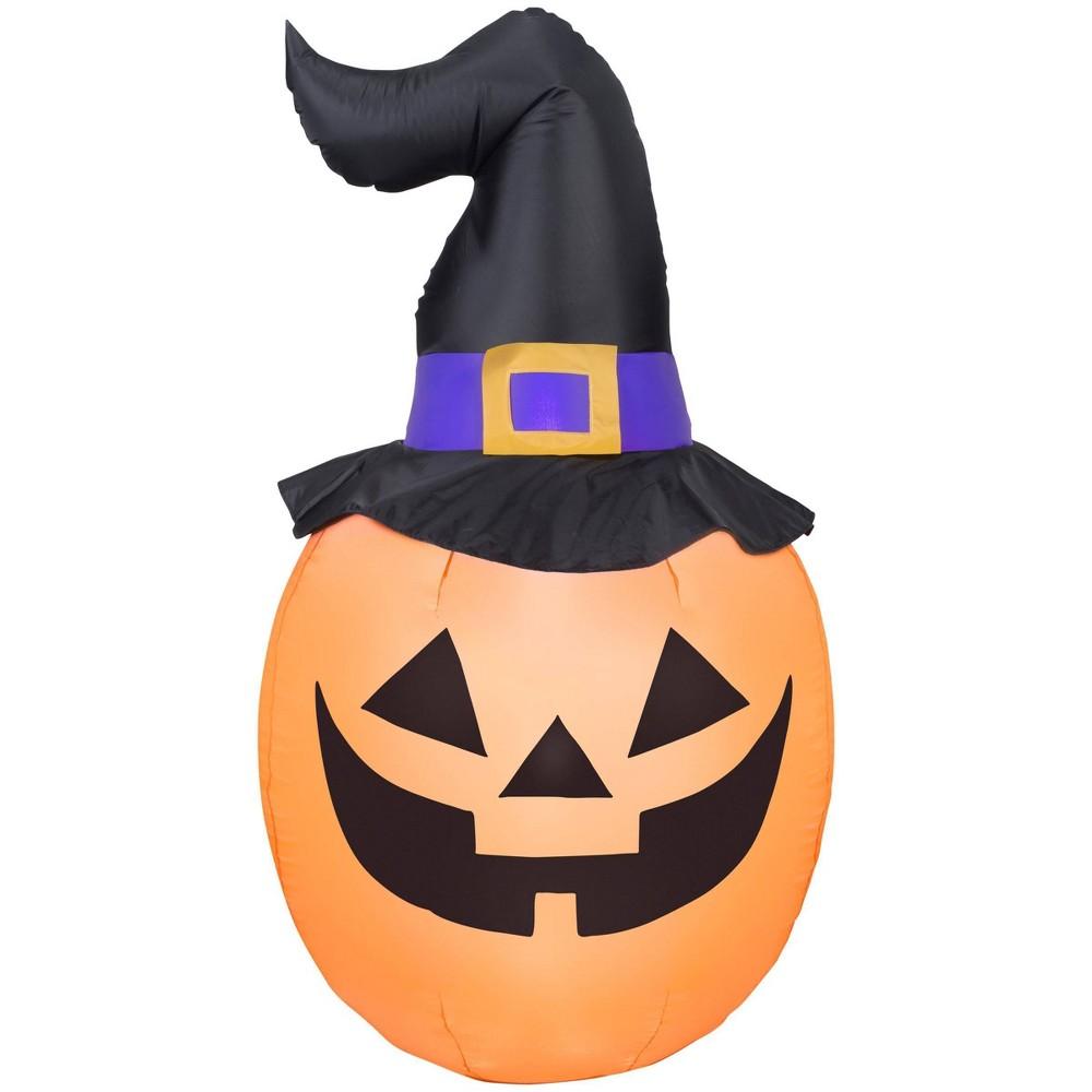 Image of 6' Jack-O-Lantern Inflatable Halloween Decor, Orange