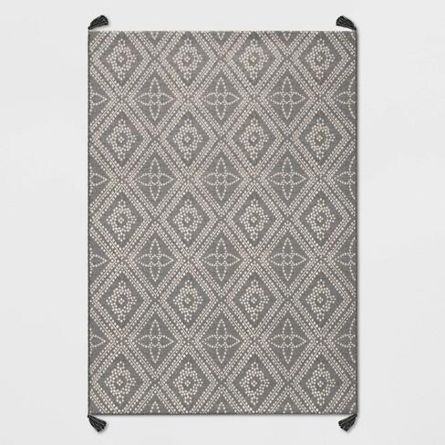 Diamond Tasseled Outdoor Rug - Threshold™ - image 1 of 2