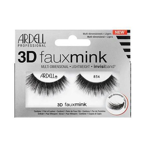 Ardell Eyelashes 3D Faux Mink 854 Lash - 1 Pair - image 1 of 3