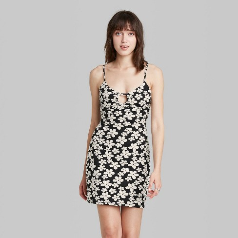 Women's Sleeveless Open Back Woven Bodycon Dress - Wild Fable™ - image 1 of 3