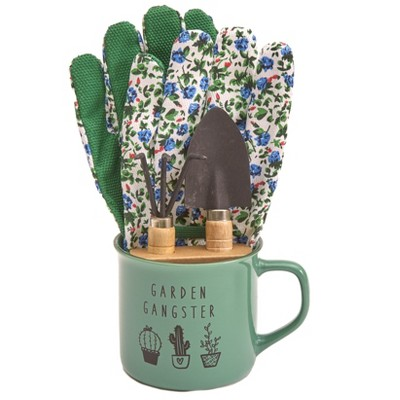 Lakeside Gardening Tools and Coffee Mug with Sentiment Set - 4 Pieces