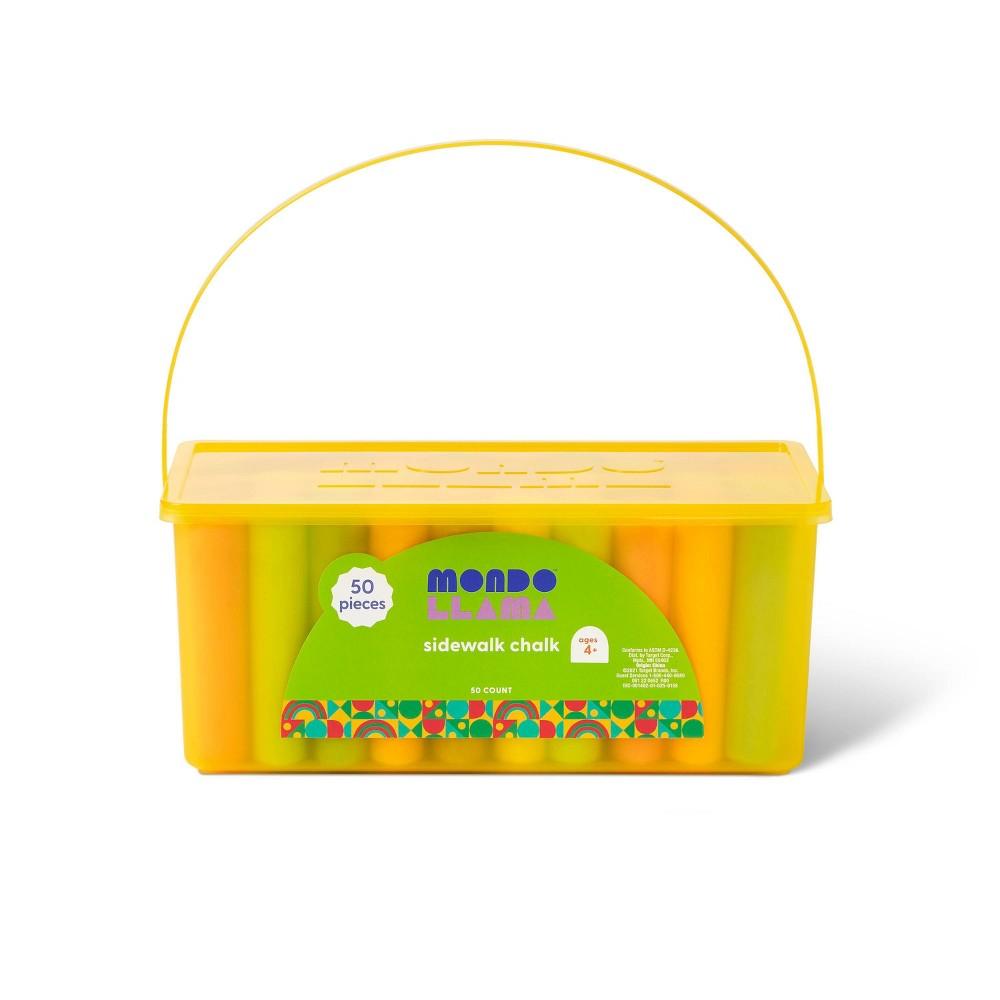 50ct Sidewalk Chalk Set Yellow Box Mondo Llama 8482