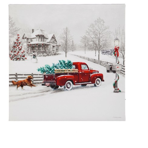 Winter Truck LED Canvas Wall Décor - image 1 of 2