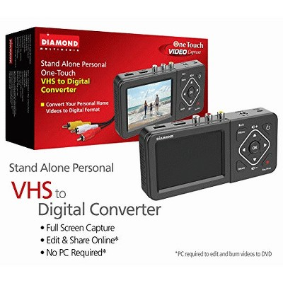 Diamond Multimedia VC500ST One Touch Standalone Digital Converter: Capture/Record Video from VHS, HI8, Camcorder, Set Top Box or Any Source with Co...