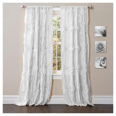 Avon Window Curtain White (84 x54 )- Lush Décor