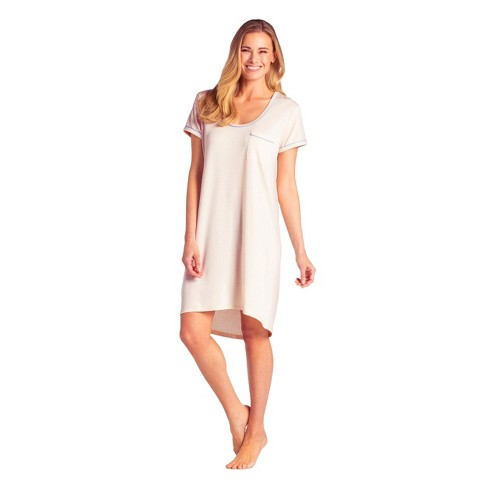 Softies Women's Sleep Shirt with Contrast Piping - image 1 of 4