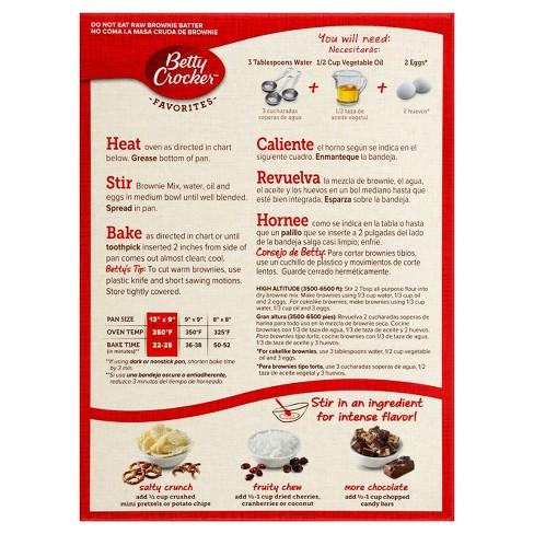 Betty Crocker Fudge Brownie Mix 183oz Target