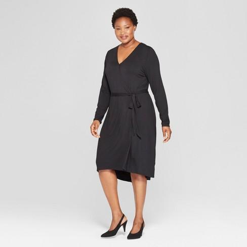 39776b6a056fb Women s Plus Size Wrap Dress - Ava   Viv™   Target