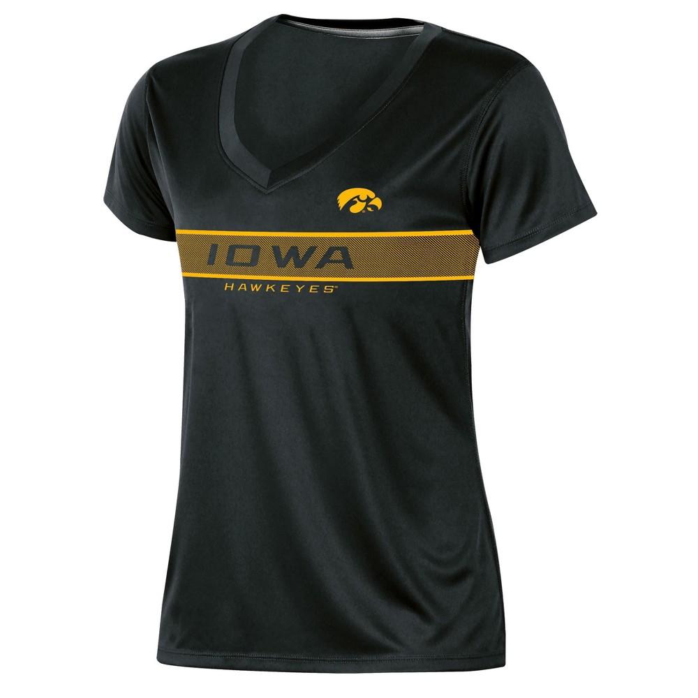Ncaa Iowa Hawkeyes Women 39 S Short Sleeve V Neck Performance T Shirt M
