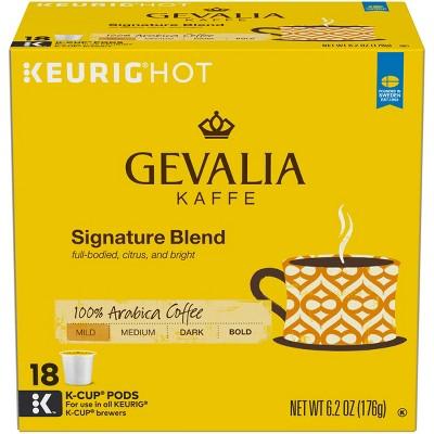 Gevalia Kaffe Signature Blend Mild-Medium Roast Coffee - Keurig K-Cup Pods - 18ct