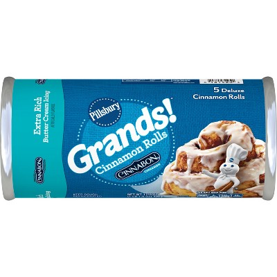 Pillsbury Grands! Cinnamon Rolls with Extra Rich Butter Cream Icing - 17.5oz/5ct