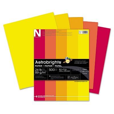Neenah Paper Astrobrights Colored Paper 24lb 8-1/2 x 11 Warm Assortment 500 Sheets/Ream 20272