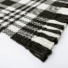 """2'1""""x3'2"""" Indoor/Outdoor Scatter Plaid Rug Black - Threshold™ designed by Studio McGee - image 3 of 4"""