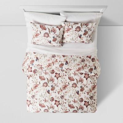 Floral Printed Family Friendly Duvet Cover & Sham Set - Threshold™ : Target