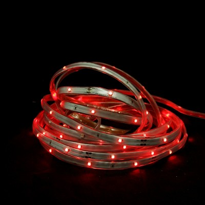 Northlight 18' Red LED Outdoor Christmas Linear Tape Lighting - White Finish