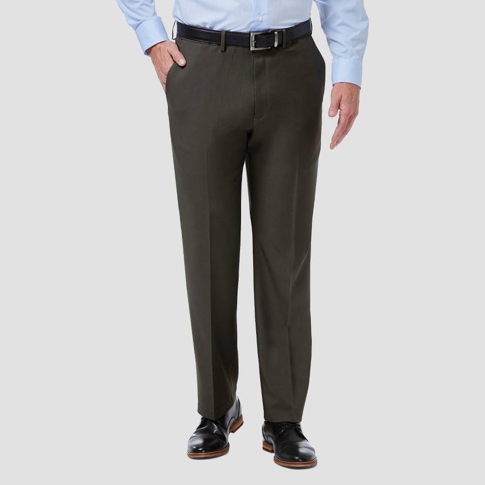 Compare Haggar Men's Big & Tall Premium Comfort Classic Fit Flat Front Dress Pants -
