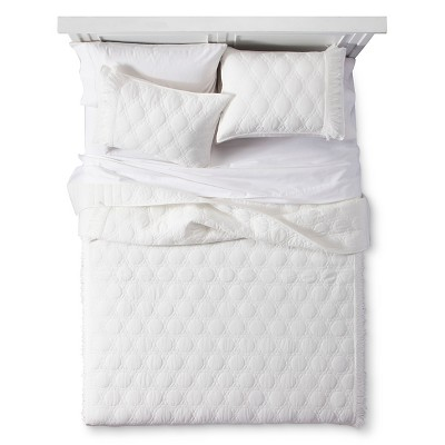 Ivory Boho Darling Solid Quilt Set (Full/Queen)3-pc - Boho Boutique