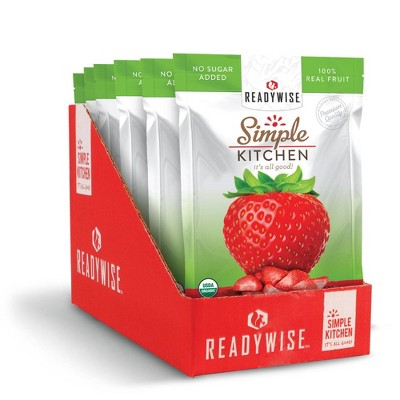 ReadyWise Simple Kitchen Organic Freeze Dried Strawberries - 4.2oz/6ct