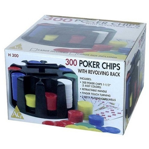 Revolving Rack Game with 300 Poker Chips - image 1 of 1